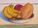 "Bowl of Fruit<br>2006, Oil on canvas, 13"" x 16"""