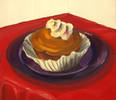 "Cupcake<br>2006, Oil on canvas, 13"" x 17"""