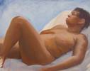 "Reclining woman<br>2007, Oil on canvas, 24"" x 31"""