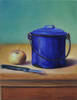 "Stillife with apple and sugar pot <br>2010, Oil on canvas, 12"" x 16"""